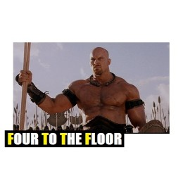 GIANT MAN FOUR TO THE FLOOR